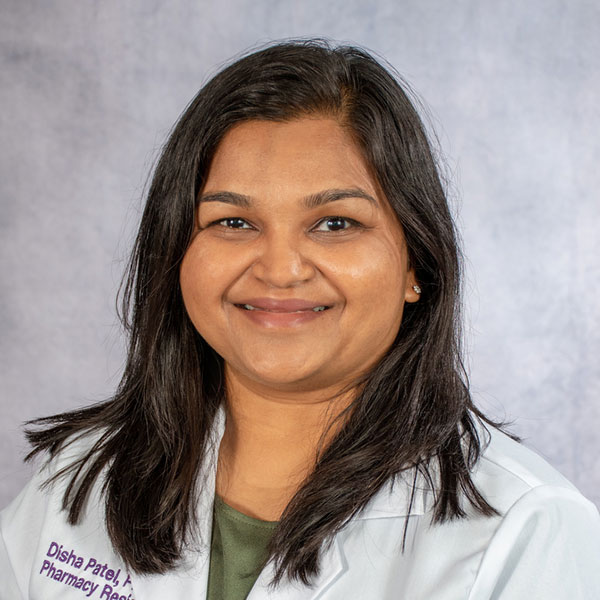 A friendly headshot of clinical pharmacist Disha Patel