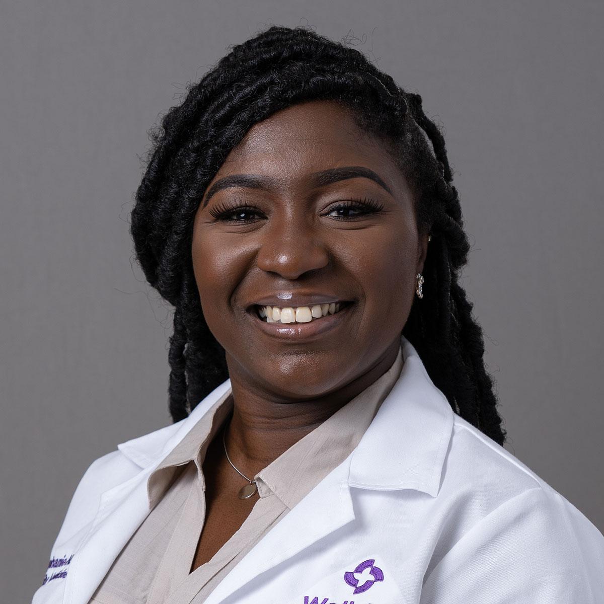 A friendly headshot of Dr. Stephanie Okeke